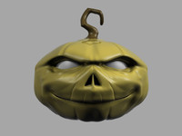 3ds max halloween pumpkin