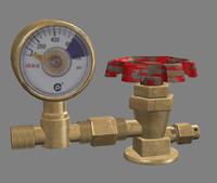 3dsmax gas cylinder valve