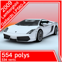3d 2009 lamborghini-gallardo lp560 model
