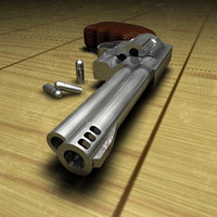 3d model 44 magnum revolver