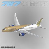 b787-8 gulf air 3d model
