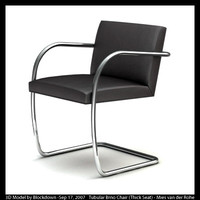 MR Tubular Brno Chair with Thick Seat