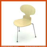 3ds max arne jacobsen chair
