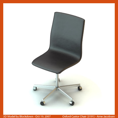 AJ Oxford Castor Chair 3191