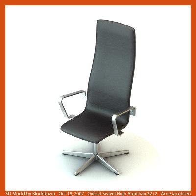 AJ Oxford Swivel High Armchair 3272