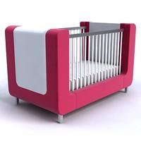 3d model baby bed