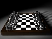 3d classic chessboard