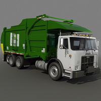 3d garbage truck loader model