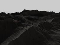 3d mountainous terrain landscape