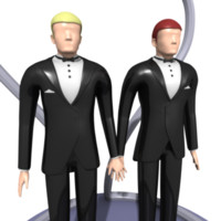 Same Sex Wedding Cake Figures