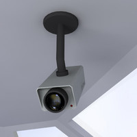 3d model security cam