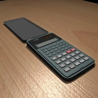 3d model of calculator