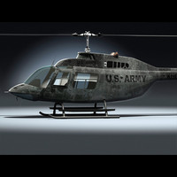 3d model military helicopter