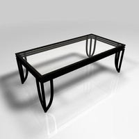 glass coffee table 3d c4d