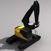 3d model ecr305c excavator crawler