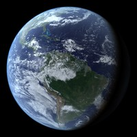 C4D Photorealistic Earth with seasonal maps