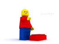 3d max lego man