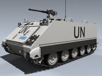 m113a1 apc 3d model