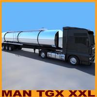 man tgx xxl cistern 3d model