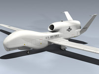3d rq-4a global hawk aircraft model