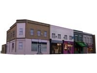 3d shop street model
