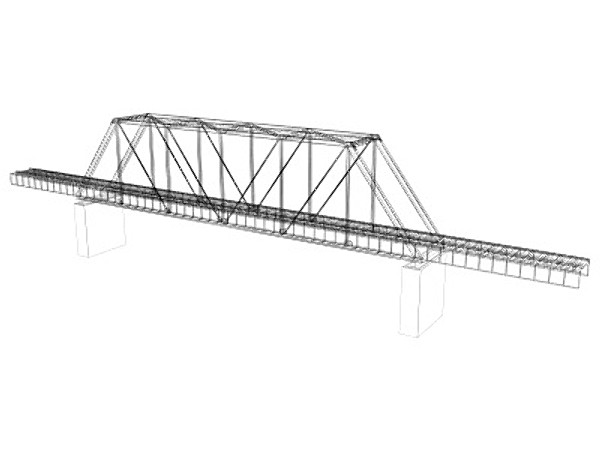 train trestle bridge 3d model - Train Trestle... by Mesh Factory
