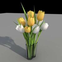 3d aalto tulip flowers