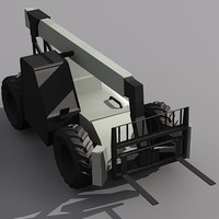Low Poly VR-1056C Fork Lift.MAX