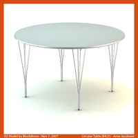 AJ Circular Table 120x120x70 B425