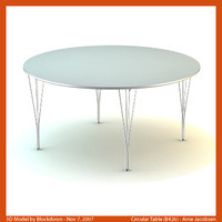 3dsmax arne jacobsen table