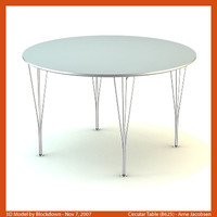 AJ Circular Table 120x120x72 B625