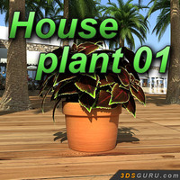 plant terracotta pot 3d model
