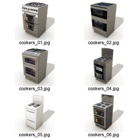 3d model 6 cookers