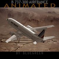 3ds max 737-300 plane air france