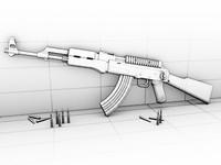 3d model kalaschnikow ak-47