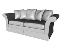 3d sofa pillows model