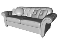 3d tufted sofa