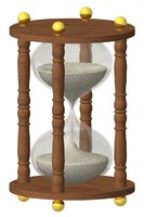 hour glass 3d model