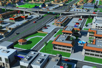 3d city interchange