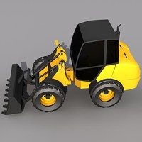 Low Poly L20-B Compact Wheel Loader.MAX