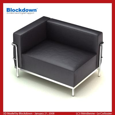 le corbusier 3d model. Black Bedroom Furniture Sets. Home Design Ideas