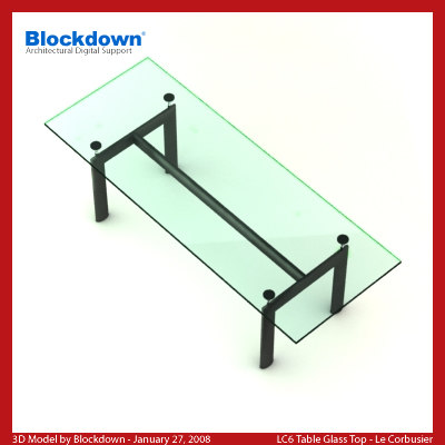 Le corbusier glass table for 52 glass table top
