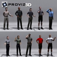 3D People: Waiter Vol. 01