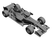 3d spyker f1 car model