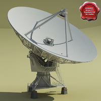 vla radio telescope 3d model