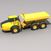 3d a40e articulated hauler model