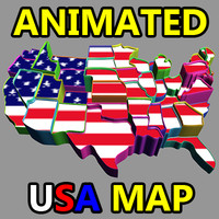 animated usa (america) map