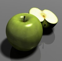 3d apple slice