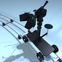 3d model professional camera dolly