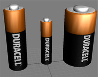 free duracell batteries aa aaa 3d model